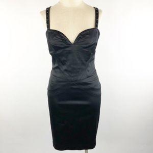 Laundry by Design Embellished Satin Sheath Dress